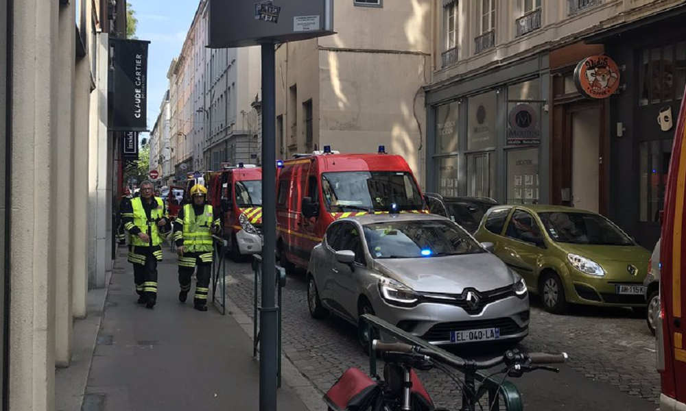 Several injured in suspected package bomb blast in France