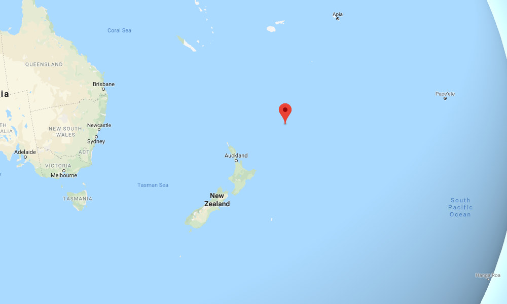 Magnitude quake struck near New Zealand