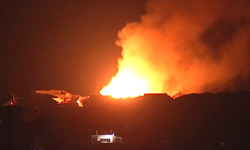 Fire nearly destroys historic Japanese castle