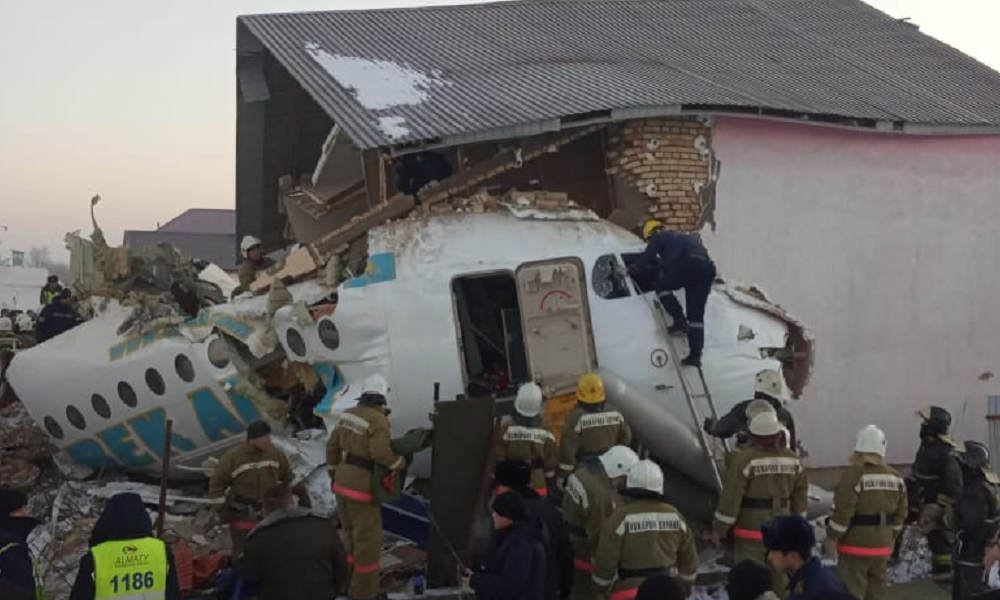15 killed, 66 hurt after passenger plane crashes in Kazakhstan