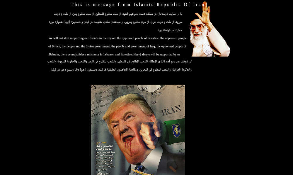 Iran Begins Cyber Attacks Against U.S. Government Websites, Leaves Nuclear Deal