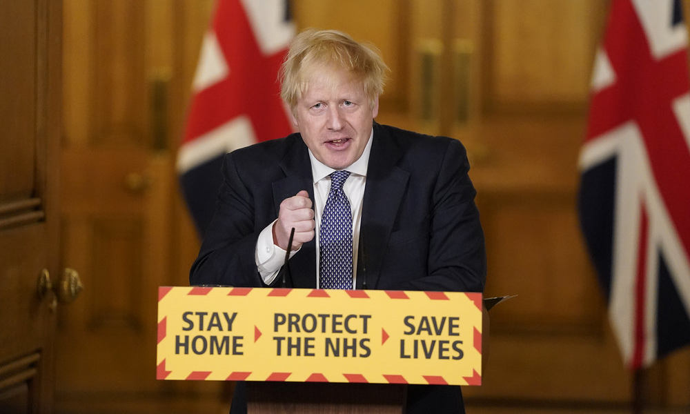 United Kingdom coronavirus toll nears Italy's, PM says nation 'past the peak'